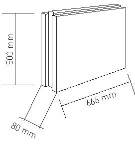 دیوار گچی سوراخ دار 8 سانتی